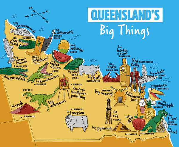 Queensland's Big Things Bucket List