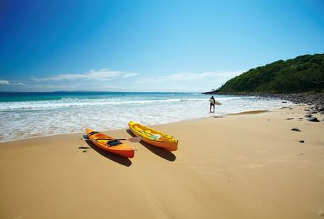 Canoes on the Beach, Noosa, Sunshine Coast