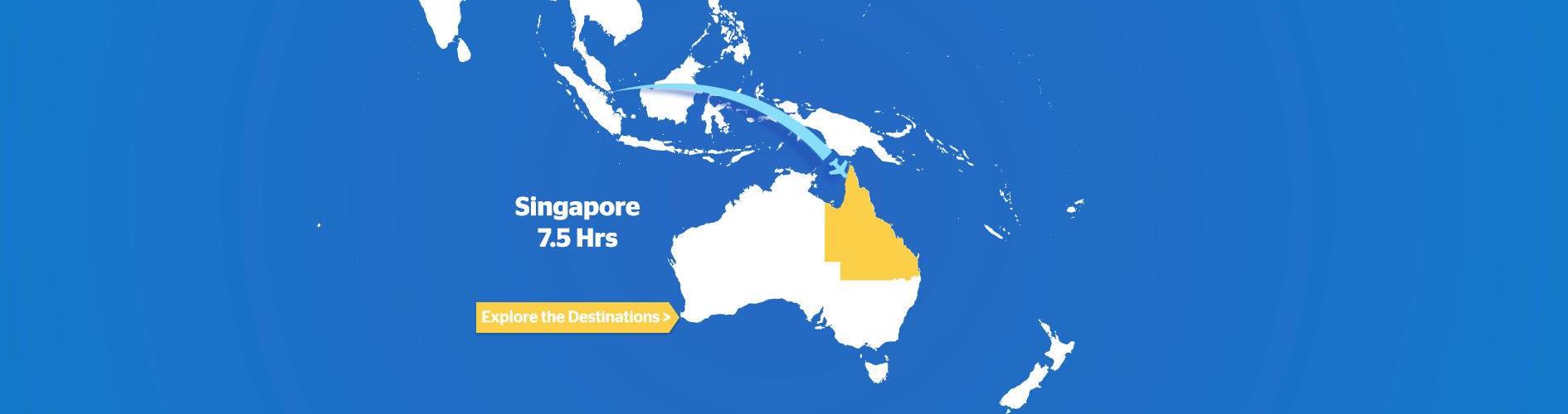 Singapore to Australia Flight Map