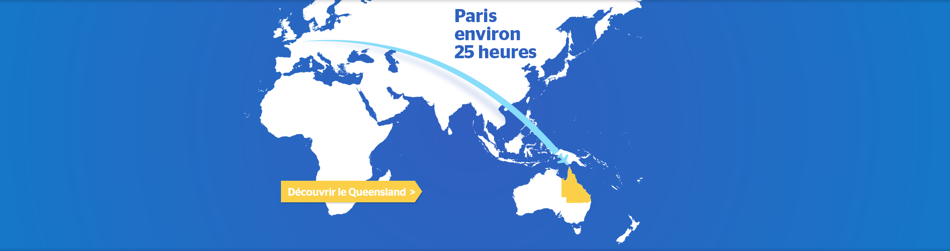 Paris to Australia Flight Map